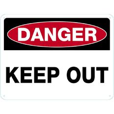 Impact Danger Keep Out Sign Large 460mm x 610mm