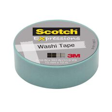 Scotch Washi Craft Tape 15mm x 10m Pastel Blue