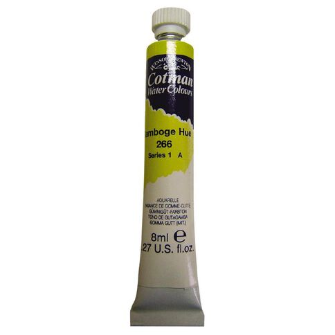 Winsor & Newton Cotman Watercolour Paint 8ml Gamboge Hue Yellow