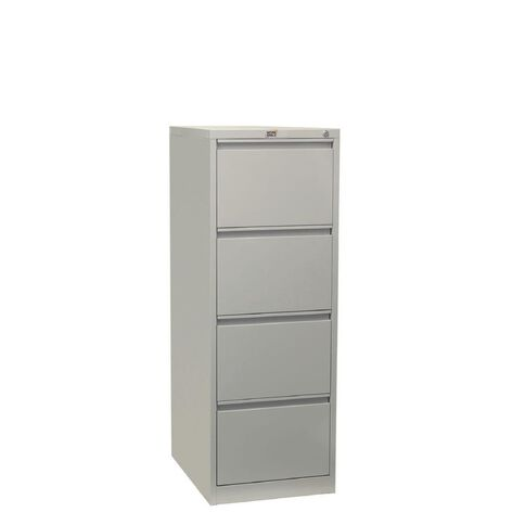 Workspace Filing Cabinet 4 Drawer Silver Grey