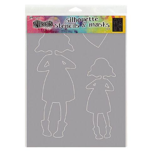 Ranger Dylusions Stencil Silouhette Martha