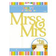 Artwrap Cake Topper Mrs & Mrs Gold Glitter