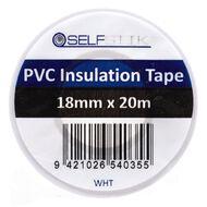 Pomona Insulation Tape PVC 18mm x 20m White