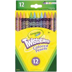 Crayola Twistable Coloured Pencils 12 Pack