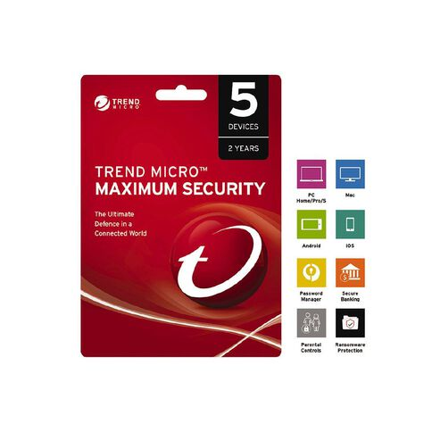 Trend Micro NZTMIS Maximum Security 1-5D 2Y ESD