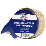 Impact Packaging Tape On Dispenser 48mm x 50m Tan