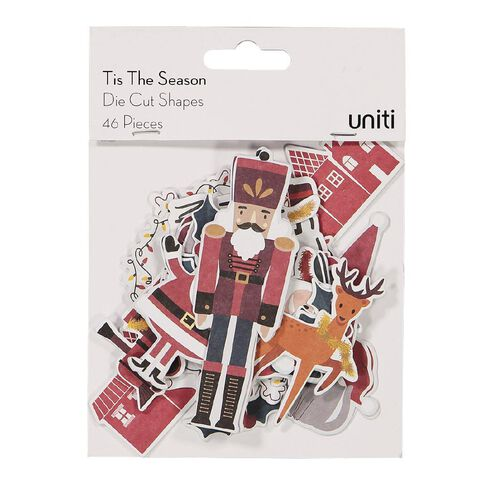 Uniti Tis The Season Die Cut Shapes