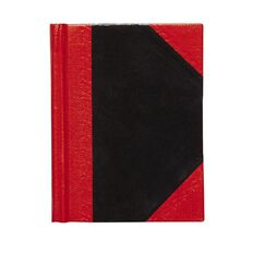 Spirax Notebook Casebound Black/Red A7