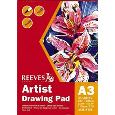 Reeves Drawing Pad Black A3