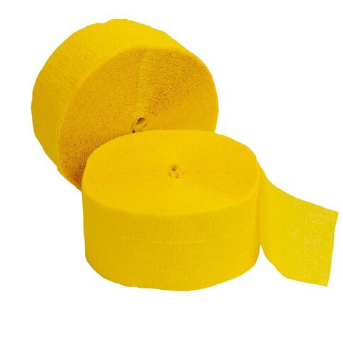 Meteor Streamers 24.6m x 4.45cm 2 Rolls Hot Yellow