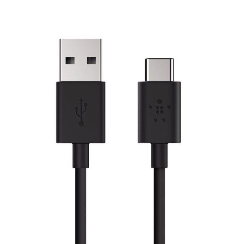 Belkin MIXIT 2.0 USB-A to USB-C Charge Cable 1.8m Black Black