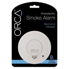 Orca Photoelectric Bedroom/Hallway Smoke Alarm with Hush