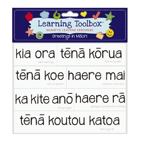 Learning Tool Box Magnetic NZ Maori Greetings Assorted 25 Pack