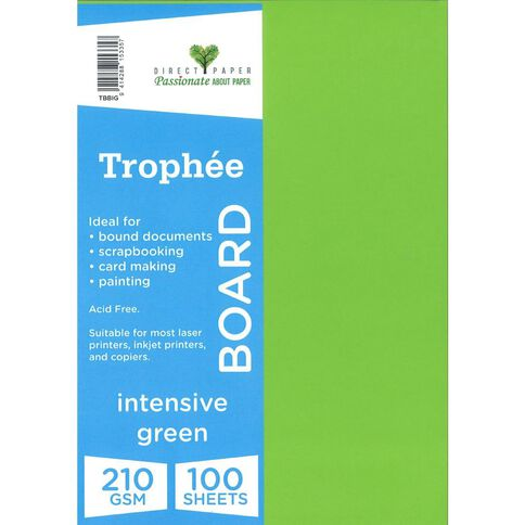 Trophee Board 210gsm 100 Pack Intensive Green A4