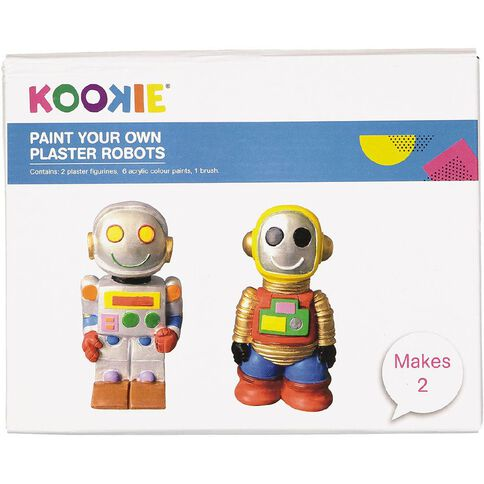Kookie Paint Your Own Robots 2 pack Assorted