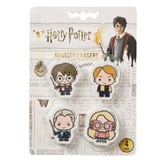 Harry Potter Novelty Eraser 4 Pack