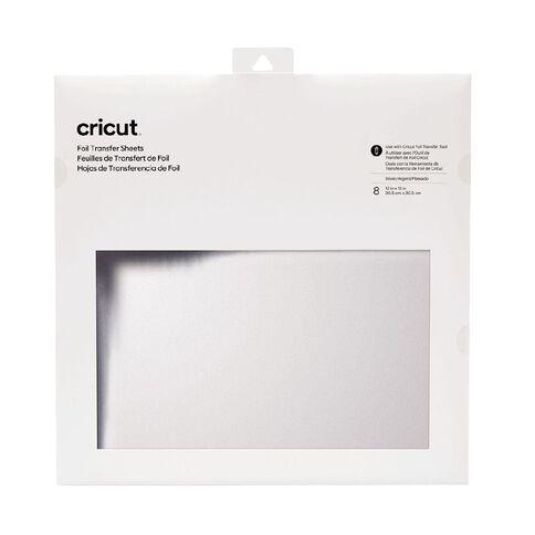 Cricut Transfer Foil 12 Inch x 12 Inch Silver 8 Pack