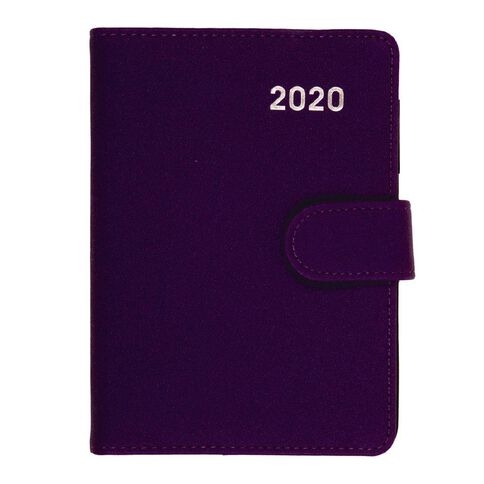 Dats Diary 2020 Week To View PU Embossed With Clasp Assorted A6