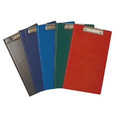 Office Supply Co Foolscap PVC Double Clipboard Black