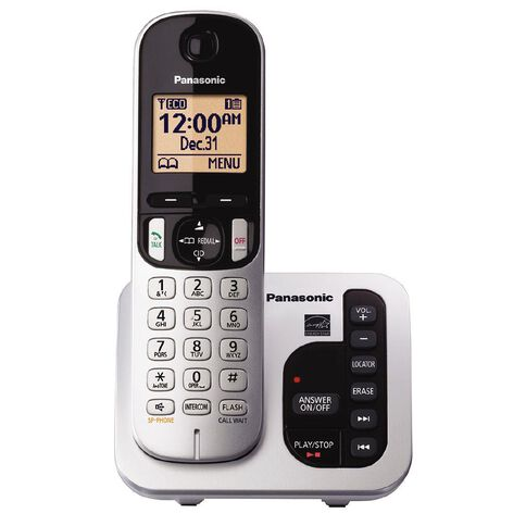 Panasonic KX-TGC220NZS Single Cordless Handset Silver Silver