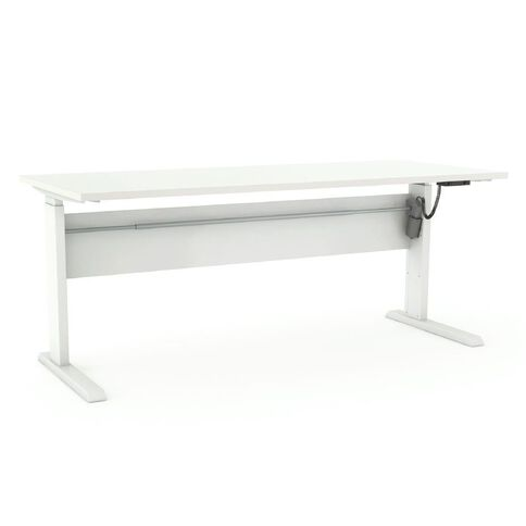 Cubit Height Adjustable Electric Desk 1800 White/White