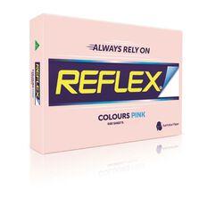Reflex Paper 80gsm Tints 500 Pack Pink A3