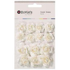 Rosie's Studio Paper Roses 14 Piece Assorted