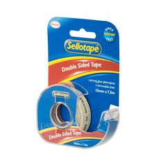 Sellotape Double-Sided On Dispenser 12mm x 7.5m Clear