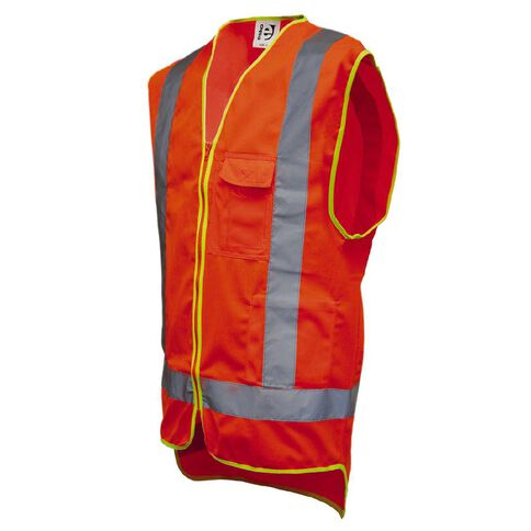 Hi-Vis Day/Night Safety Vest With Pockets Orange