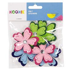 Kookie Felt Stickers Multi-Coloured 6 Pack