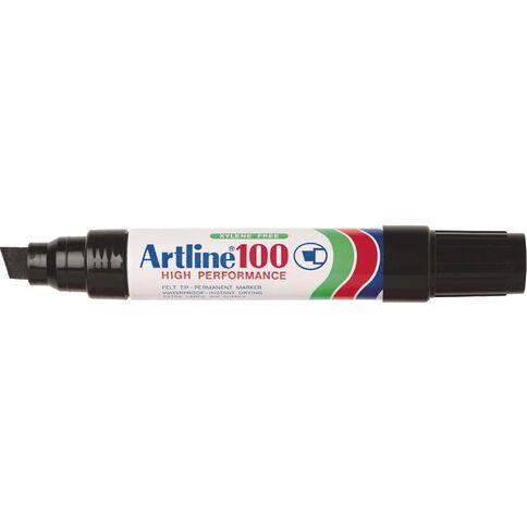 Artline Marker 100 Chisel 12mm Black