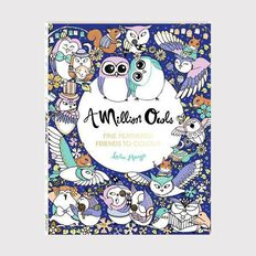A Million Paws Colouring: Owls by Michael O'Mara