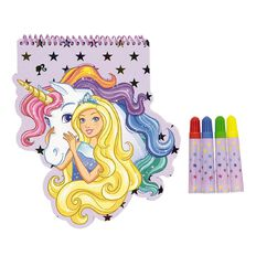 Barbie Shaped Notebook With Markers