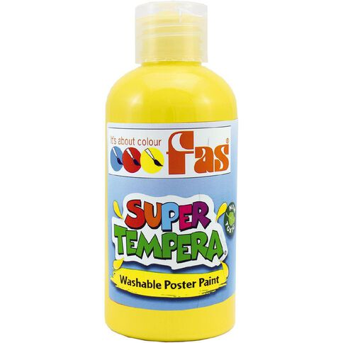 FAS Paint Super Tempera 250ml Yellow