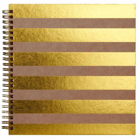 Rosie's Studio Album 8 x 8 Stripes Kraft/Gold
