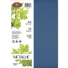Direct Paper Metallic Paper 120gsm 10 Pack Sapphire A4