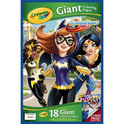Crayola Dc Super Hero Girls Giant Coloring Pages Warehouse