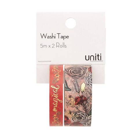 Uniti Washi Tape Floral 2 Pack