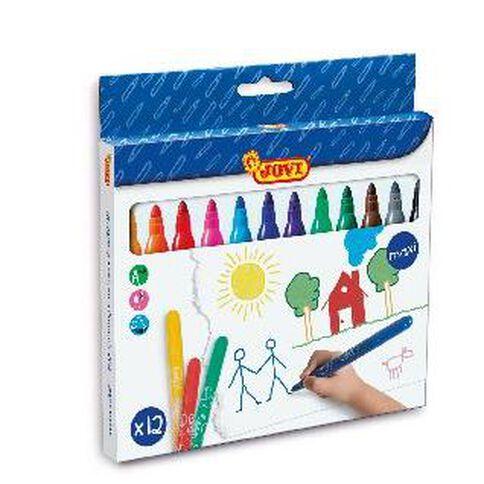 Jovi Washable Maxi Felt Tip Pen 12 Pack Multi-Coloured 12 Pack