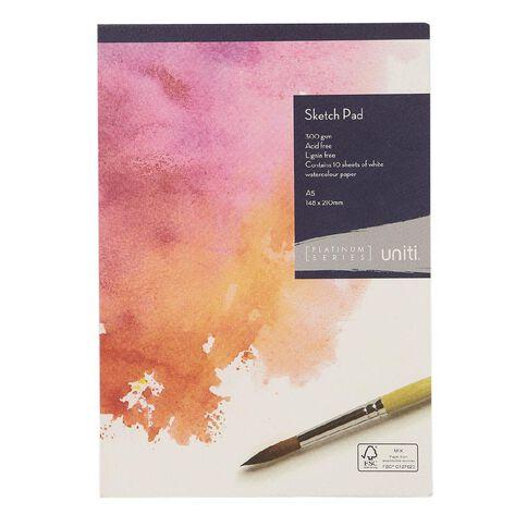 Uniti Platinum Sketch Pad 300gsm A5 10 Sheets