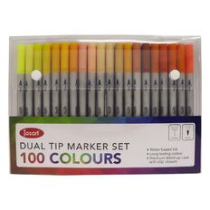Jasart Dual Nib Brush Fineliner Set 100