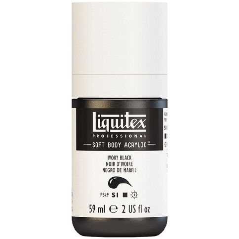 Liquitex Soft Body Acrylic 59ml Ivory Black S1