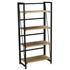 Workspace Folding Bookcase Oak