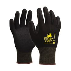 Esko Black Bull Sandy Nitrile Coated Tradesman Glove Black