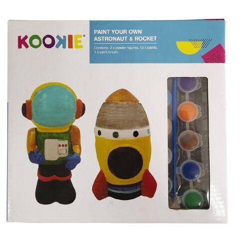Kookie Paint Your Own Astronaut & Rocket 2 Pack