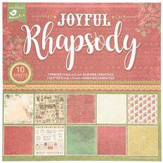 Little Birdie Festive Paper Pack 12in x12in Joyful Rhapsody 10 Sheets