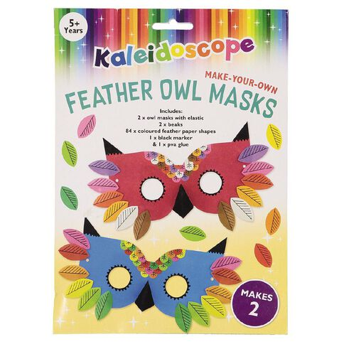 Kaleidoscope Make Your Owl Masks 2 Pack