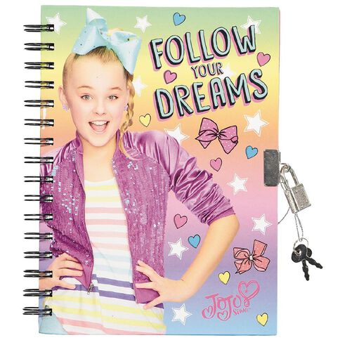 Jojo Siwa Secret Diary 80 Sheet With SRT A5