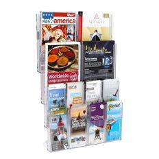 Deflecto Lit Loc Wall Rack Kit 8 x DLE 4 x A4