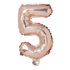 Artwrap Party Foil Balloon Number 5 Rose Gold 35cm